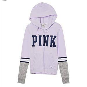 PINK Victoria's Secret Sz.XS Full Zip Lilac Hoodie